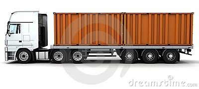 Freight container Delivery Vehicle