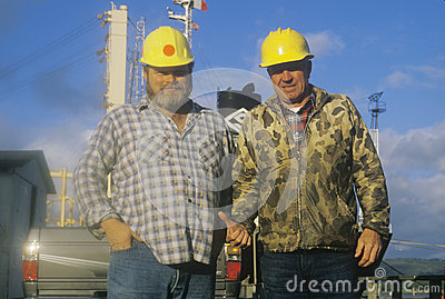 Freight crew members Editorial Stock Image
