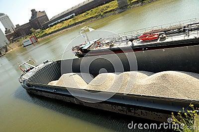 Freight ship on Rhine