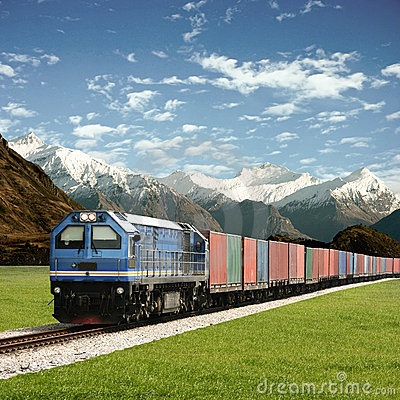 Free Freight Train Royalty Free Stock Photography - 13823057