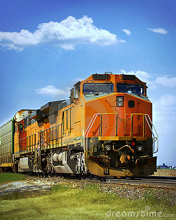 Free Freight Train Stock Photography - 7538402