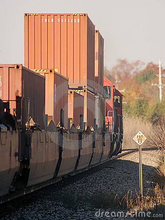 Freight Train Heading West