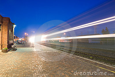 Freight Train Light Trails