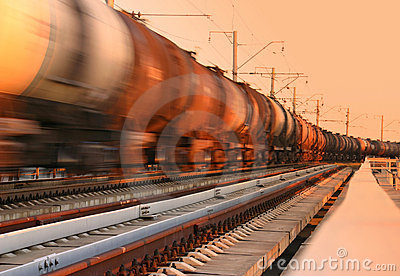 Freight train passing by
