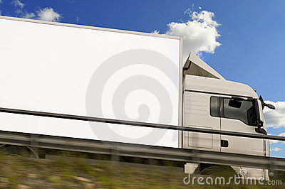 Freight truck in action