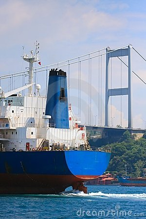 Freighter in the Bosporus Strait