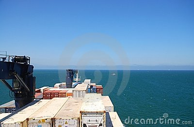 Freighter At Sea