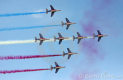 French Air Force at Le Bourget Air Show 2009 Editorial Stock Photo