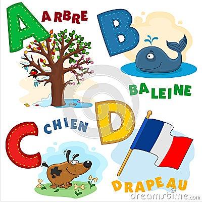 Free French Alphabet Part 1 Royalty Free Stock Image - 63451266