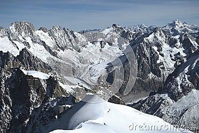 French Alpine scene Stock Photo