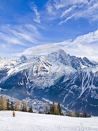 French Alps at Chamonix Mont Blanc