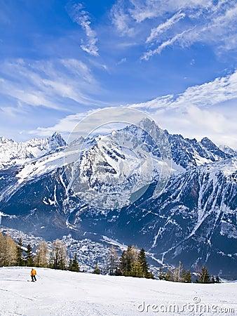 French Alps at Chamonix Mont Blanc