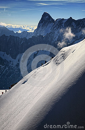 Ski Slope in the French Alp