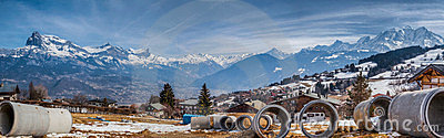 French Alps and Tubular Pipes