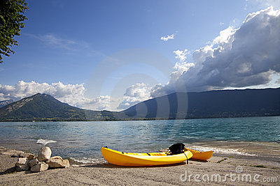 French Annecy lake