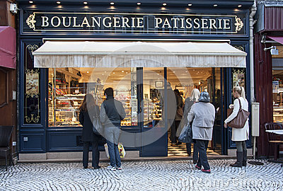 French bakery Editorial Stock Photo