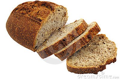 French bread cut into slices