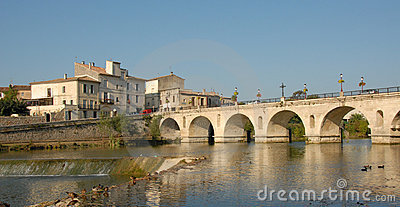 French bridge in sommieres