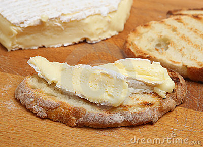 French Brie Cheese on Toast
