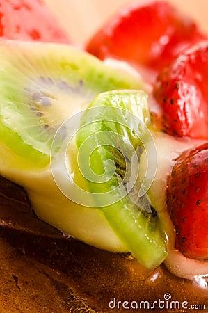 Free French Cake With Fresh Fruits Stock Image - 20434141