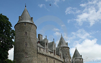 French Castle with Turrets - Brittany, France