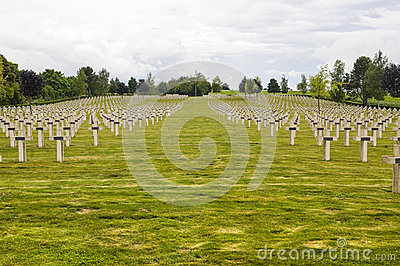 French cemetery in Champagne-Ardenne