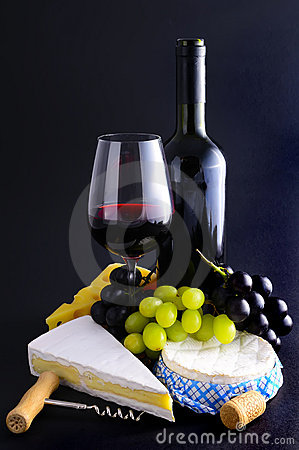 Free French Cheese And Wine Royalty Free Stock Image - 18896956