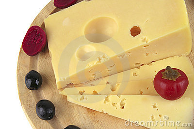 French cheese served with olives