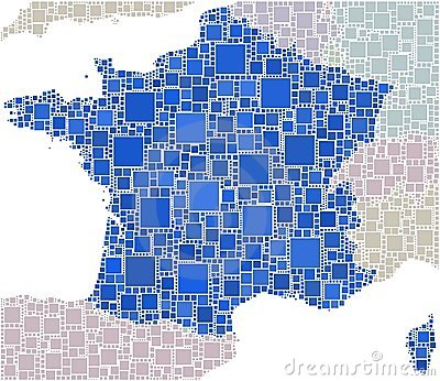 French in a coloured mosaic
