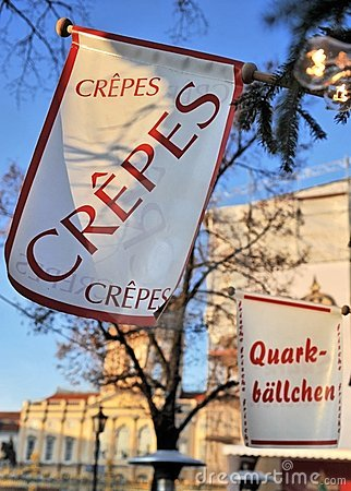 French crepes sign in Germany