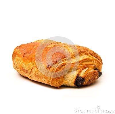 Free French Croissant With Chocolate On White Background Royalty Free Stock Photo - 106386475