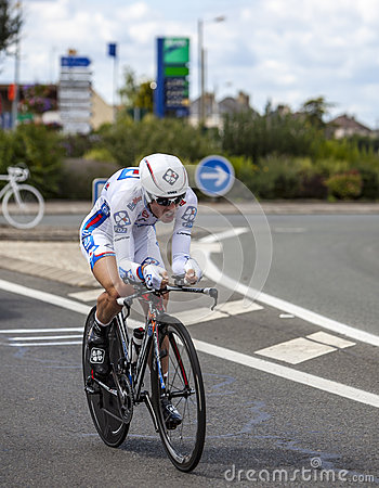 The French Cyclist Cedric Pineau Editorial Stock Photo