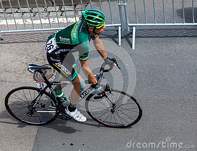 The French Cyclist Jerome Vincent Editorial Photography