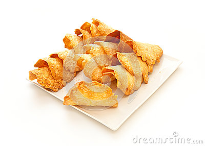 French delicacy almond pastry