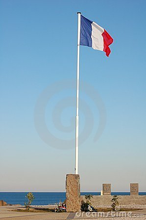 Free French Flag On A Pole Royalty Free Stock Image - 1068696