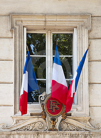 Free French Flags On Window Stock Photos - 16382033