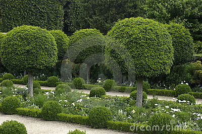 French Formal Garden Royalty Free Stock Images Image
