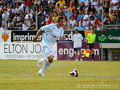 French friendly soccer match OM vs TFC Editorial Photography