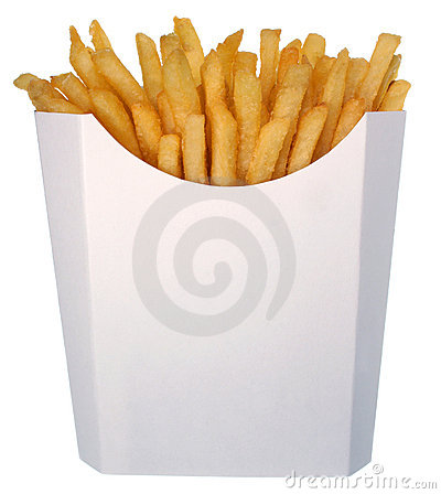 Free French Fries In Fast Food Carton Royalty Free Stock Photos - 5829198