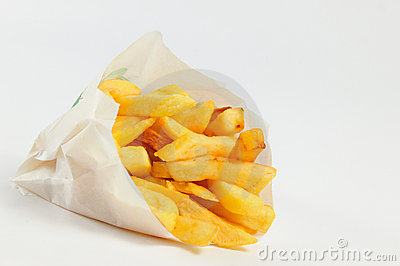 French fries isolated on a white background