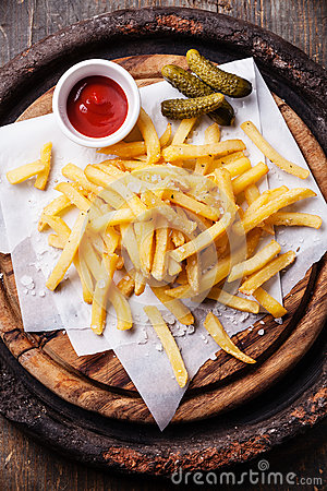 Free French Fries With Ketchup Stock Images - 35322674