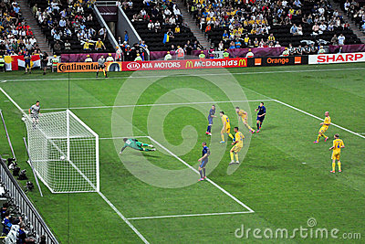 French goal Editorial Photography