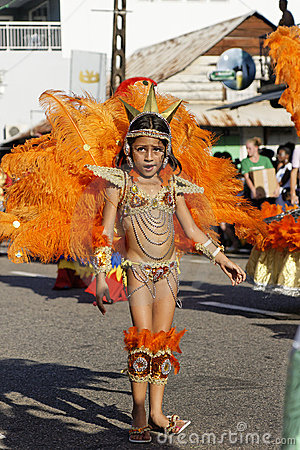 French Guiana s Annual Carnival February 14, 2010 Editorial Stock Image