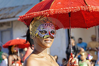 French Guiana s Annual Carnival February 14, 2010 Editorial Image