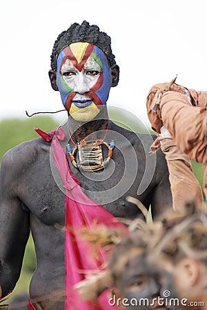 French Guiana s Annual Carnival February 7, 2010 Editorial Stock Photo