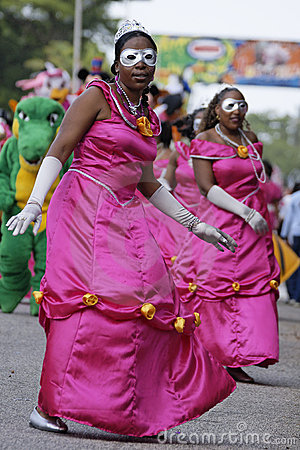 French Guiana s Annual Carnival February 7, 2010 Editorial Stock Image