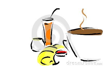 French Healthy Breakfast Royalty Free Stock Photography ...