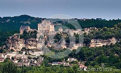 French hillside town