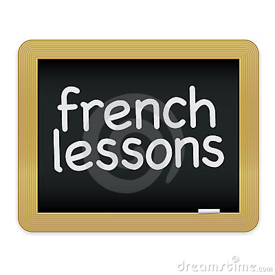 French Lessons Chalkboard EPS
