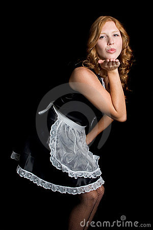French Maid Blowing Kiss